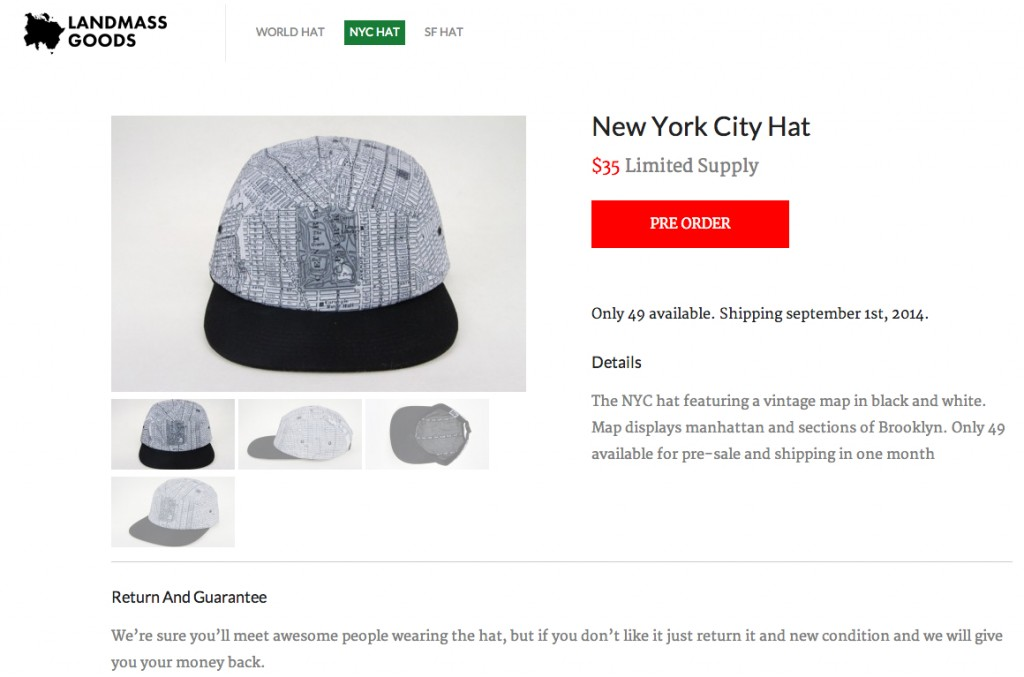 New York City Hat — Landmass Goods